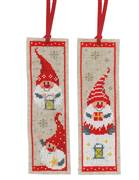 Vervaco Christmas Gnome Bookmarks Cross Stitch Kit