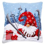 Vervaco Apres Ski Gnome Cushion Christmas Cross Stitch Kit
