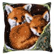 Vervaco Foxes Cushion Christmas Cross Stitch Kit