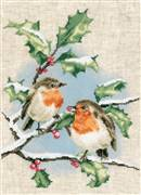 Vervaco Winter Robins Christmas Cross Stitch Kit