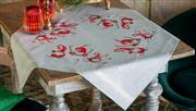 Vervaco Ski-ing Gnomes Tablecloths Christmas Cross Stitch Kit
