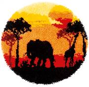 Vervaco African Sunset Latch Hook Rug Latch Hook Kit