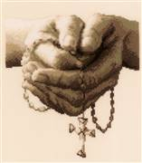 Vervaco Rosary Prayer Cross Stitch Kit