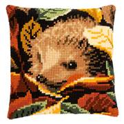 Vervaco Hedgehog Cushion Cross Stitch Kit