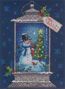 Dimensions Snowman Lantern Christmas Cross Stitch Kit