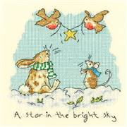 Bothy Threads Star in the Bright Sky Christmas Cross Stitch Kit