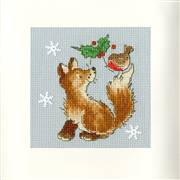 Bothy Threads Christmas Friends Card Making Cross Stitch Kit