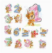 Luca-S Teddy Numbers Cross Stitch Kit