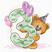 Luca-S Third Birthday Cross Stitch Kit