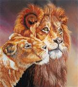 Panna Lions Embroidery Kit