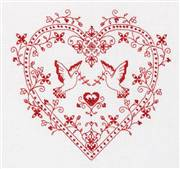 Panna Heart with Doves Wedding Sampler Cross Stitch Kit