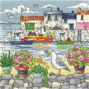 Heritage Geranium Shore - Evenweave Cross Stitch Kit