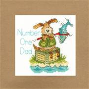 Bothy Threads Number One Dad Card Cross Stitch Kit