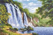 RIOLIS Noise of the Waterfall Cross Stitch Kit