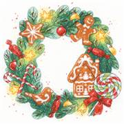 RIOLIS Gingerbread Wreath Christmas Cross Stitch Kit