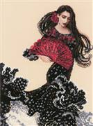 RIOLIS Dancer with a Fan Cross Stitch Kit