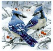 RIOLIS Blue Jays Christmas Cross Stitch Kit