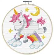 Needleart World Unicorn Frolic No Count Cross Stitch Kit