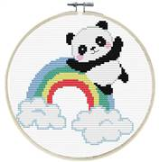 Needleart World Rainbow Panda No Count Cross Stitch Kit