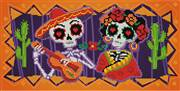 Needleart World Day of the Dead No Count Cross Stitch Kit