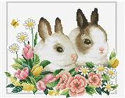 Needleart World Spring Bunnies No Count Cross Stitch Kit