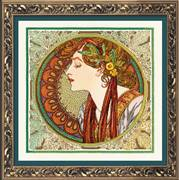 RIOLIS Laurel - Mucha Cross Stitch Kit
