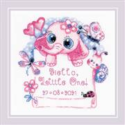RIOLIS Hello Little One - Girl Birth Sampler Cross Stitch Kit