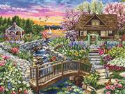 Luca-S Spring Blooms on the Lake Cross Stitch Kit