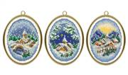 Vervaco Winter Villages Set of 3 Miniatures Christmas Cross Stitch Kit