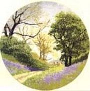 Bluebell Lane - Aida - Heritage Cross Stitch Kit