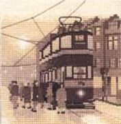 Tram Stop - Aida - Heritage Cross Stitch Kit