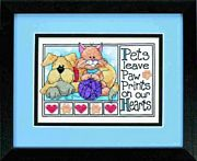 Paw Prints - Dimensions Cross Stitch Kit
