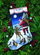 Santa's Arrival Stocking - Dimensions Cross Stitch Kit