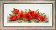 Spray of Poppies - Anchor Cross Stitch Kit