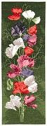 Sweet Pea Panel - Evenweave - Heritage Cross Stitch Kit