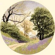 Heritage Bluebell Lane - Evenweave Cross Stitch Kit
