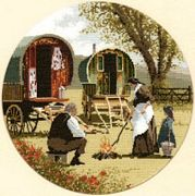 Gypsy Caravans - Evenweave - Heritage Cross Stitch Kit