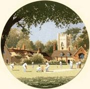 Sunday Cricket - Evenweave - Heritage Cross Stitch Kit