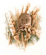 Harvest Mouse - Evenweave - Heritage Cross Stitch Kit