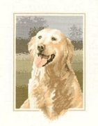 Golden Retriever - Evenweave - Heritage Cross Stitch Kit