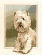Westie - Evenweave - Heritage Cross Stitch Kit