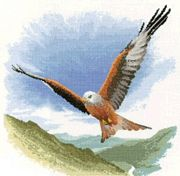 Red Kite in Flight - Aida - Heritage Cross Stitch Kit