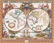 Janlynn Olde World Map Cross Stitch Kit