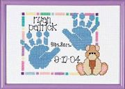 Janlynn Baby Handprints Birth Announcement Birth Sampler Cross Stitch Kit
