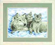 Mother Wolf and Pups - Dimensions Cross Stitch Kit