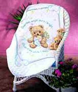 Cuddly Bear Quilt - Dimensions Cross Stitch Kit
