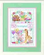 Dimensions Birth Record for Baby Birth Sampler Cross Stitch Kit