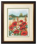 Anchor Poppy Field Cross Stitch Kit