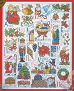 Design Works Crafts Christmas ABC Sampler Cross Stitch Kit