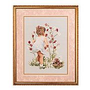 Janlynn Girl with Cosmos Cross Stitch Kit